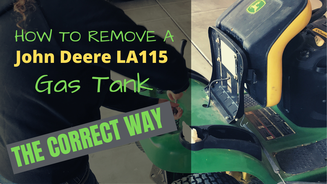How to Remove a Gas Tank From John Deere LA115